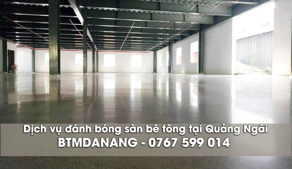 Dịch vụ đánh bóng sàn bê tông tại Quảng Ngãi