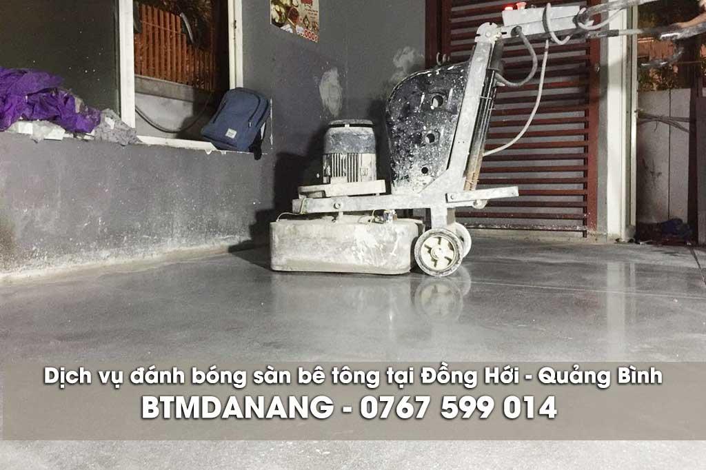 Dịch vụ đánh bóng sàn bê tông tại Đồng Hới - Quảng Bình