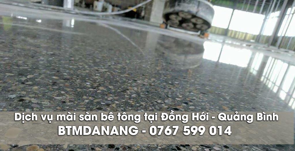 Dịch vụ mài sàn bê tông tại Đồng Hới - Quảng Bình