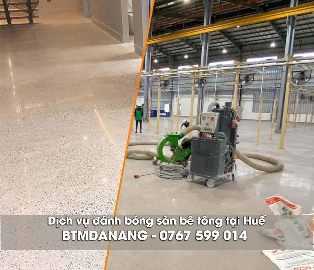 Dịch vụ đánh bóng sàn bê tông tại Huế