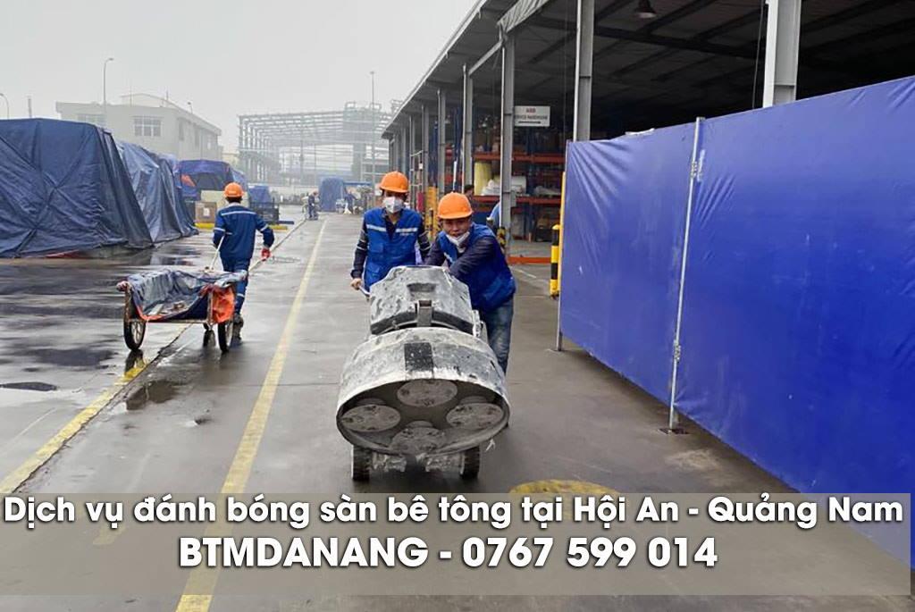 Dịch vụ đánh bóng sàn bê tông tại Hội An - Quảng Nam