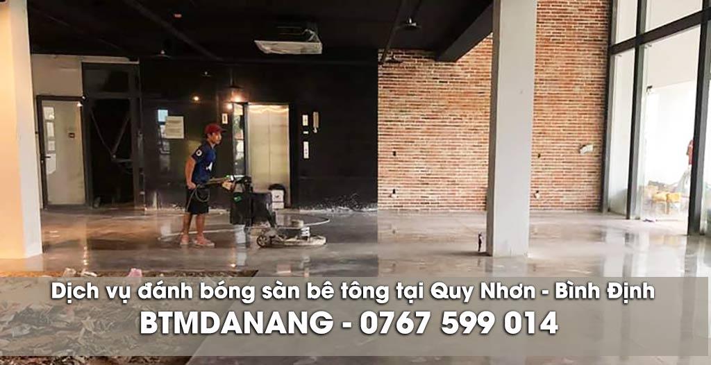 Dịch vụ đánh bóng sàn bê tông tại Quy Nhơn - Bình Định