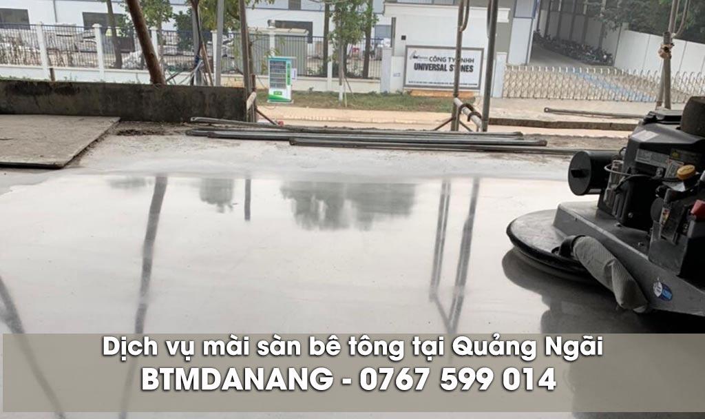 Dịch vụ mài sàn bê tông tại Quảng Ngãi