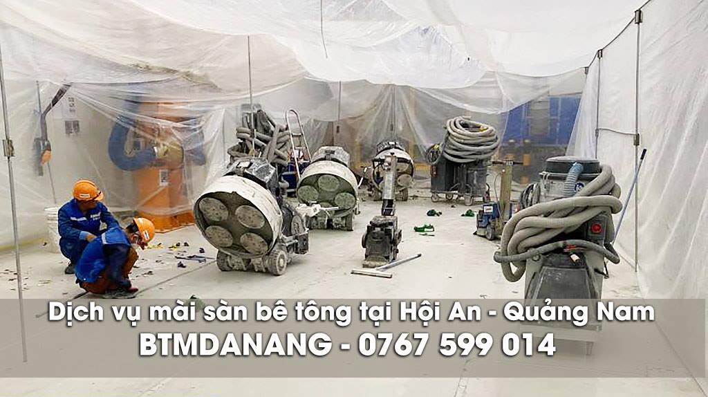 Dịch vụ mài sàn bê tông tại Hội An - Quảng Nam