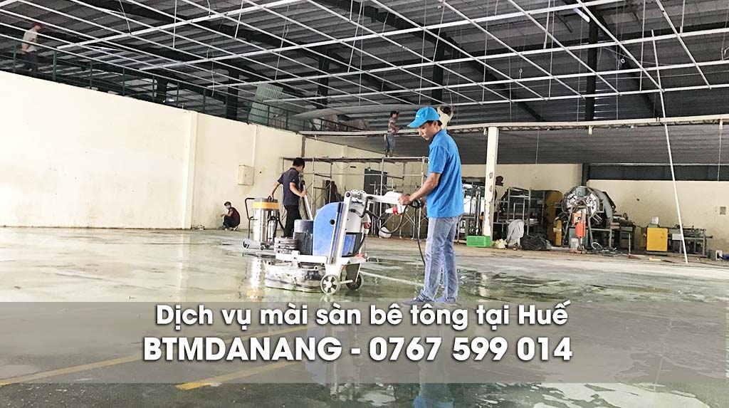 Dịch vụ mài sàn bê tông tại Huế