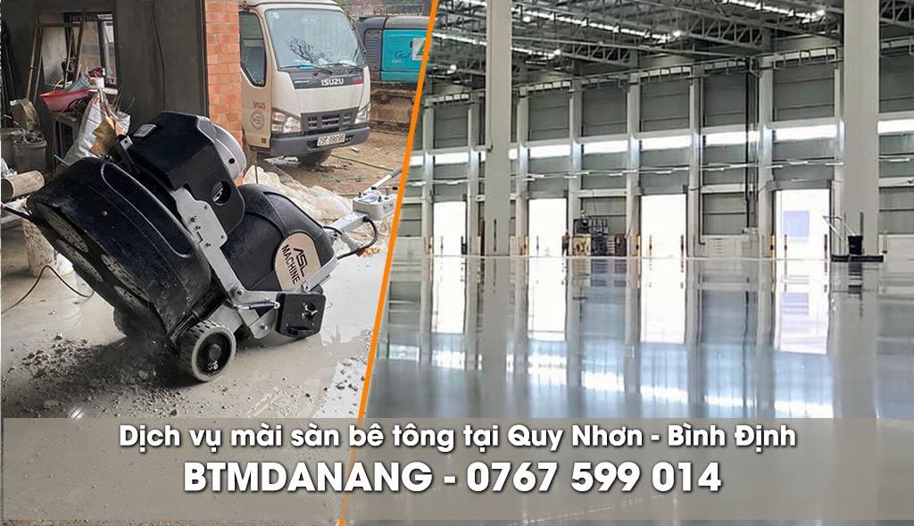 Dịch vụ mài sàn bê tông tại Quy Nhơn - Bình Định