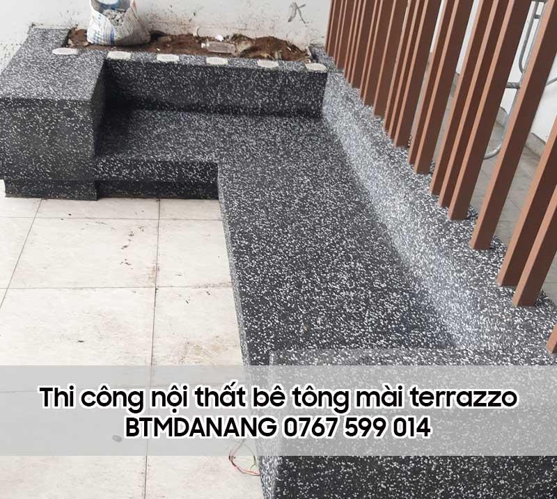Thi công nội thất bê tông mài terrazzo Đà Nẵng