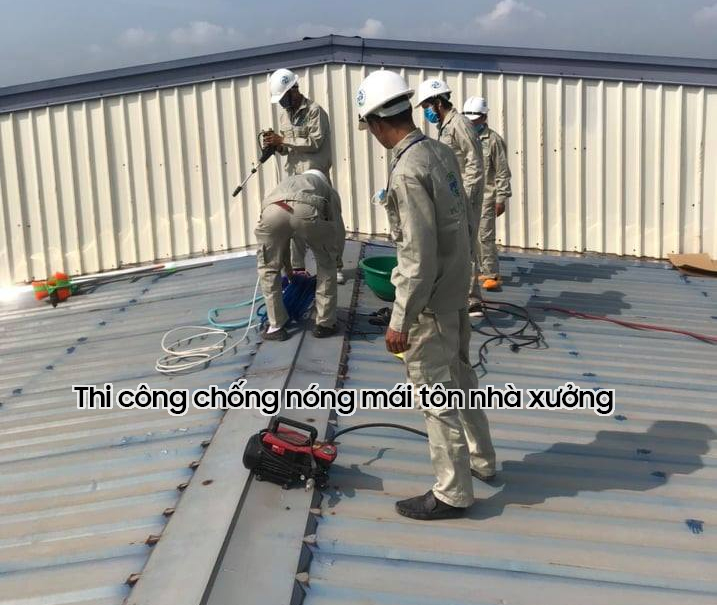 Thi công sơn chống nóng mái tôn nhà xưởng tại Đà Nẵng