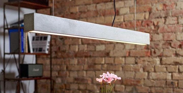Nội thất bê tông - Đèn trần bằng bê tông nhẹ