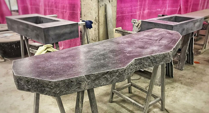 Mặt bàn bằng bê tông nhẹ giả đá
